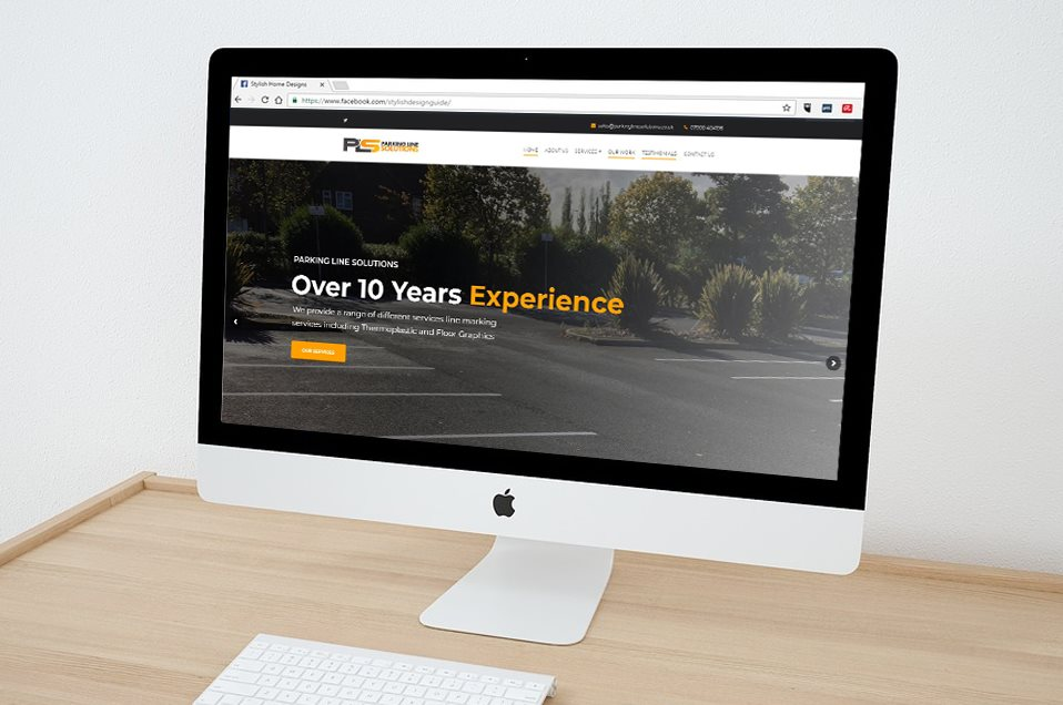 Parking Line Solutions Desktop Website